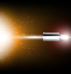 Bullet shot vector
