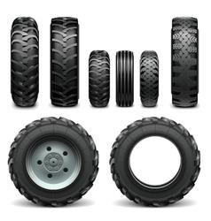 Tractor tires vector