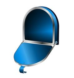 Open mailbox vector