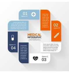 Medical healthcare circle plus sign infographic vector