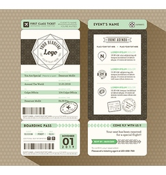 Hipster design boarding pass event ticket vector