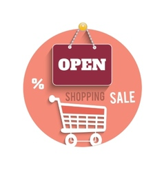 Icons of shopping concept vector