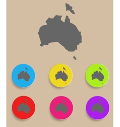 Australia map - icon isolated vector