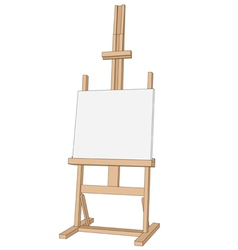 Easel paint vector