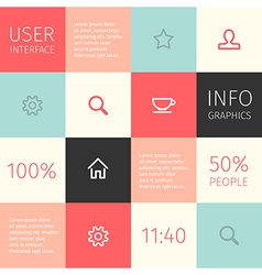 Ui for mobile or web design vector