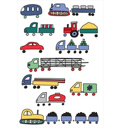 Coloured transport vector