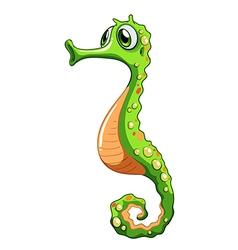 A green seahorse vector
