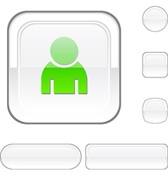 Person white button vector