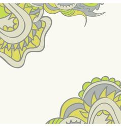 Floral ornamental template vector