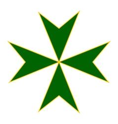 Cross of saint lazarus vector
