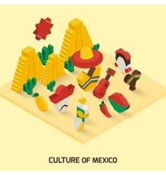 Mexican icon isometric vector