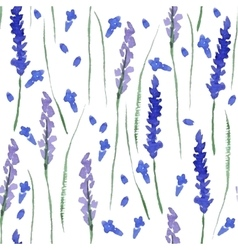 Watercolor lavender seamless vector