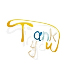 Thank you hand lettering calligraphy vector