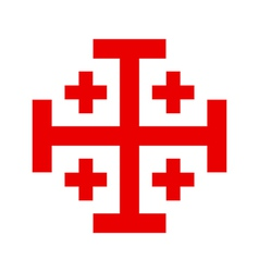 Cross of the holy sepulchre order vector