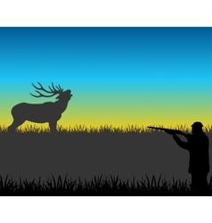 Hunt on deer vector