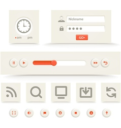 Web player interface template vector