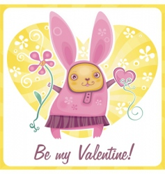 Valentine rabbit vector