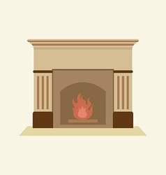 Modern flat design fireplace vector