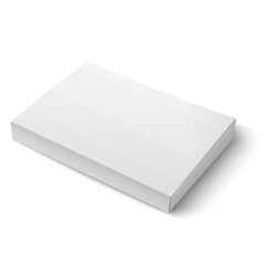 Blank softcover book template on white vector