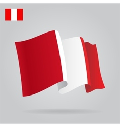 Background with waving peruvian flag vector