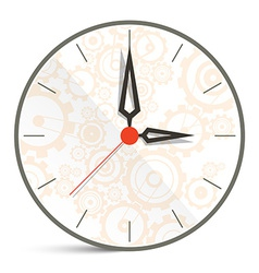 Abstract clock isolated on white background vector