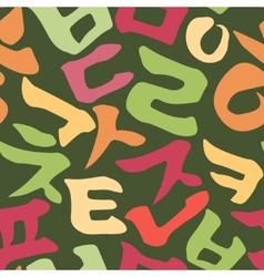 Korean alphabet pattern vector