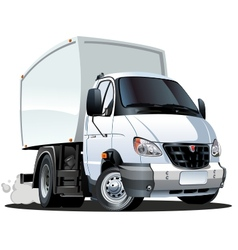 Cartoon delivery truck vector