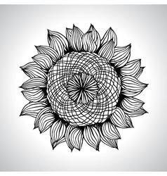 Sunflower flower element for design vector