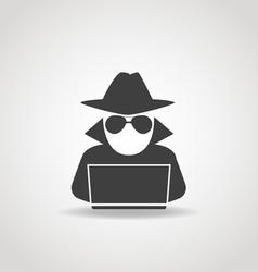Anonymous computer icon vector