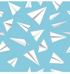 Paper plane pattern vector