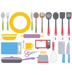 Colourful kitchen collection vector