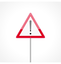 Caution traffic sign vector