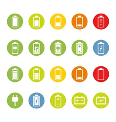 Battery and accumulator icons vector