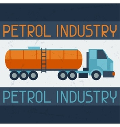 Petrol truck background vector