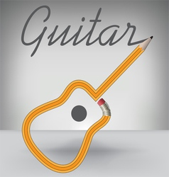 Guitar pencil vector