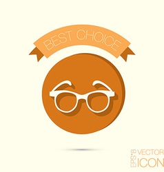 Glasses icon eyeglasses sign vector