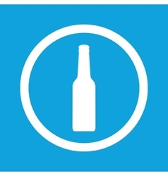 Bottle sign icon vector