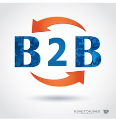 B2b  business to business vector