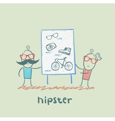 Hipster vector