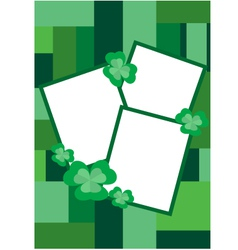 Clover border for pictures vector