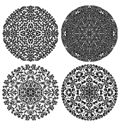 Floral patterns set vector