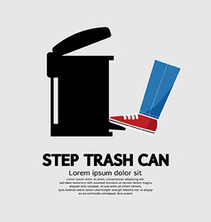 Step trash can vector