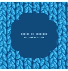 Knit sewater fabric horizontal texture circle vector