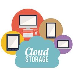 Cloud storage design vector