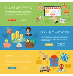 Online shopping banners vector
