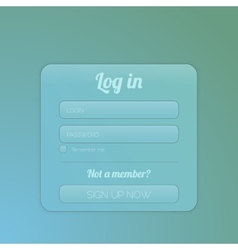 Login form ui element vector