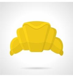 Croissant flat color icon vector