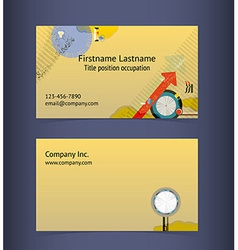 Business card layout editable design template vector