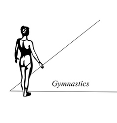 Floor gymnast vector