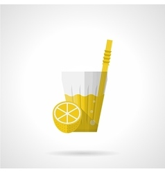 Lemonade flat color icon vector